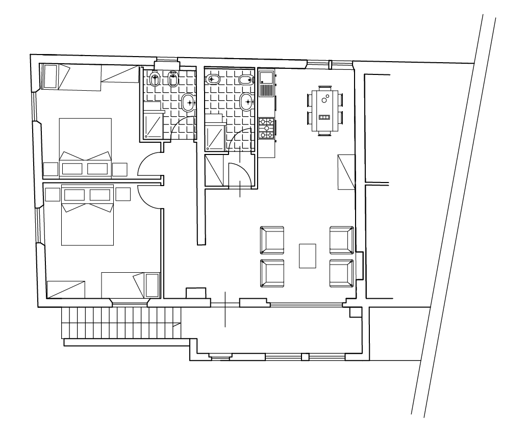 Appartamento con due camere da letto casa vacanze for Graziose case con 2 camere da letto