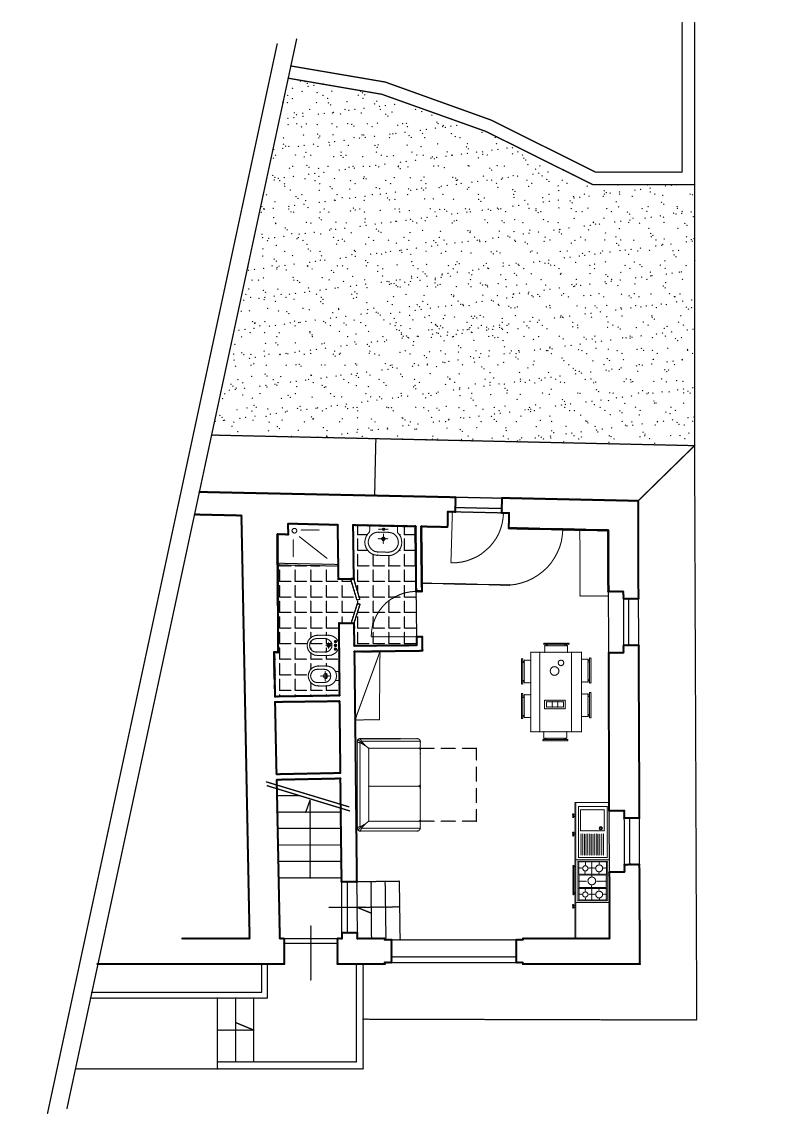 Monolocale con divano letto casa vacanze valdicciola for Planimetria di cottage calabash